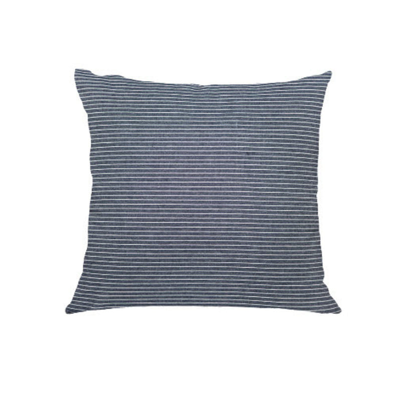 Denim stripe cushion